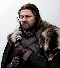 Lord Eddard Stark by hello-ground on DeviantArt Game Of Thrones Westeros, Game Of Thrones Poster, Game Of Thrones Fans, Winter Is Here, Winter Is Coming, Lord Eddard Stark, Latest Game Of Thrones, How To Draw Fur, King Robert