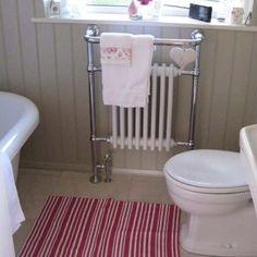 Traditional bathroom radiators go well with Bone, Farrow & Ball.  Talk to Simply Radiators for more info.