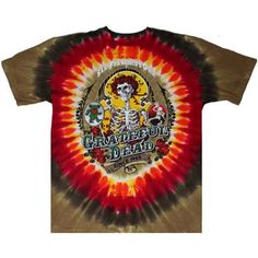 This beautiful Grateful Dead tie dye shirt is dyed and screen printed in the popular Bay Area Beloved pattern. Grateful Dead Shirts, Tie Dye Shirts, Tie Dye Designs, Tie Dyed, Bay Area, Mens Tops, T Shirt, Popular, Printed