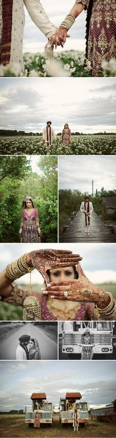 indian wedding photography, glamorous and non-traditional. By Nordica Photography