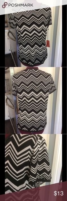 Missoni or Target T Black and white chevron print. Brand new and very soft. Missoni for Target Tops Tees - Short Sleeve
