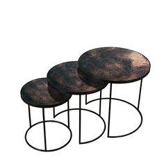 Bronze Nesting side table set of 3