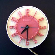Telechron Pink Kitchen Clock