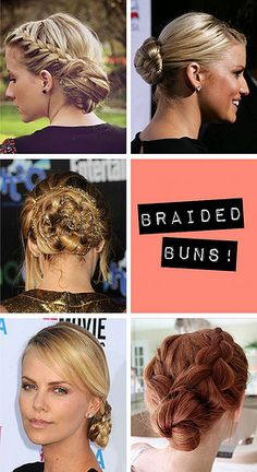 Braided Buns - perfect hairstyle for prom!