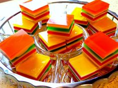 I loved this as a kid ~ Layered Finger Jello – Recipe