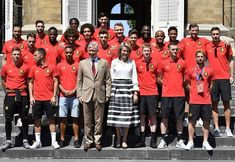 Queen Mathilde and King Philippe held a reception for Red Devils
