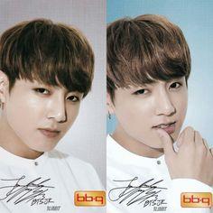 Jungkook❤ BTS x BBQ Limited Photocards #BTS #방탄소년단