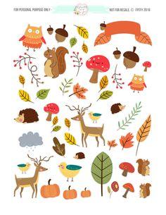 Free-cute-animal-autumn-Planner-1.jpg (2550×3300)