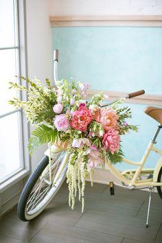 Flower adorned bike. Photography: Kimberly Chau - kimberlychau.com