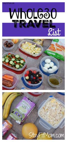 Whole30 travel list from StayFitMom.com. Great options for Whole30 on the go! Camping food