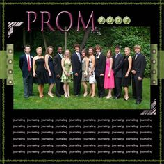 scrapbook ideas | You can choose to make your formal photo the only one on the layout or ...