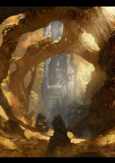 (Closed RP) *I point at the metal spire inside the cave.* Coal... We're not the first. @QueenCharcoal