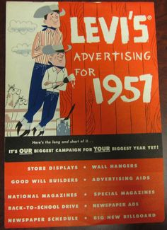 Levis Dealers Advertising Catalog, 1957 #1