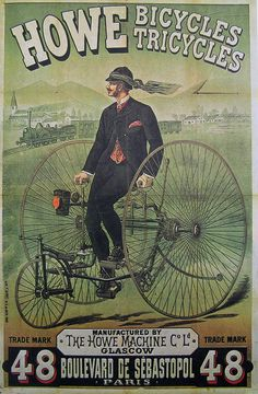Vintage Bicycle Poster: Howe by Mikael Colville-Andersen, via Flickr