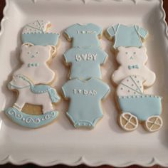 Boy Baby Shower Cookies by Jozette