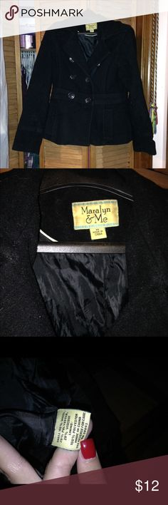 Black pea coat. Thick material. Very warm. No missing buttons. Maralyn & Me Jackets & Coats Pea Coats