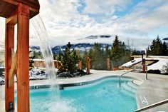 Take a dip at the Scandinave Spa in Whistler BC. #Whistler #BritishColumbia #BC #TravelCanada #Canada