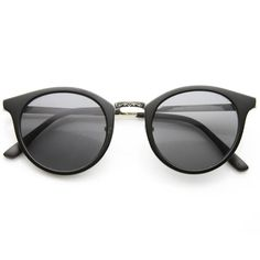 2104a955e Classic Vintage Inspired Horned Rim Round Sunglasses 9618 from zeroUV.