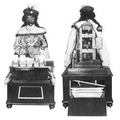 Psycho Automata Maskelyne x640 1875 Psycho the Whist playing Automaton   Maskelyne & Clarke (British)