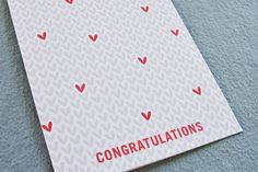 Hearts, Congratulations Card