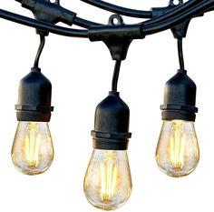 The Best Solar Lights To Illuminate Your Patio + Buying Guide Solar String Lights, String Lights Outdoor, Hanging Lights, Fairy Lights, Gazebo Lighting, Outdoor Lighting, Lighting Ideas, Edison Lampe, Edison Bulbs