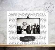 Custom Framed Song Lyrics & Photo Print, First Anniversary Gift, Wedding Gift, Gift for Her, Engagement Gift, Father of the Bride Gift Baptism Pictures, Wedding Pictures, Personalized Photo Frames, Personalized Wedding Gifts, Wedding Gifts For Parents, Gift Wedding, Father Daughter Dance, Father Of The Bride, Baby Baptism Gifts