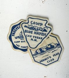 3 vintage camp patches