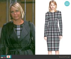 Nicole's plaid dress on Days of our Lives.  Outfit Details: https://wornontv.net/55111/ #DaysofourLives