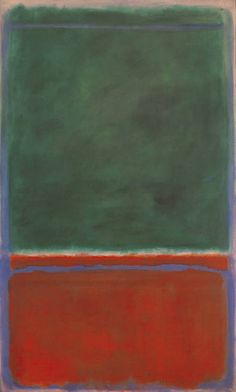 """Mark Rothko   """"Green and Maroon""""  Oil on Canvas   1953  The Phillips Collection"""