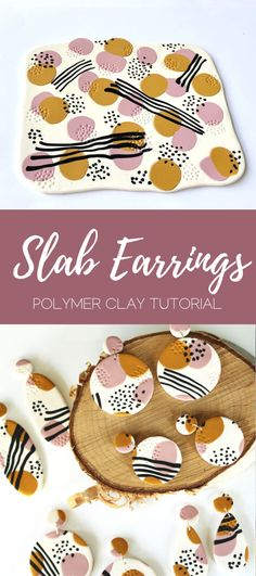 Diy Earrings Polymer Clay, Diy Fimo, Crea Fimo, Fimo Clay, Polymer Clay Projects, Clay Beads, Polymer Clay Tutorials, Easy Polymer Clay, Polymer Project