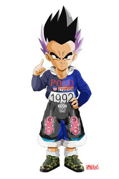 Not sure I see Gotenks in Polo RL, but the BAPE shoes are pretty cool.