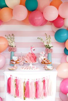 Flamingo dessert table from a Pink Flamingo Birthday Party on Kara's Party Ideas | KarasPartyIdeas.com (22)#Festaflamingo decoração #festaflamingo menina #festaflamingo lembrancinha #festaflamingo bolo #festaflamingo simples #festaflamingo infantil #festaflamingo adulto #festaflamingo doces #Festaflamingo convite #festaflamingo painel #festaflamingo roupa #festaflamingo decoração