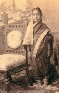 Old Indian sari | Little Indian Girl in Sari - Undated Vintage Photograph - Old Indian ...