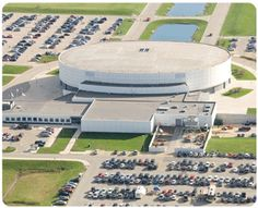 NIU's Convocation Center, where many events are held. From conventions and sporting events to concerts thrift bizarre's and everything inbetween, the Convocation Center is a great asset to DeKalb.