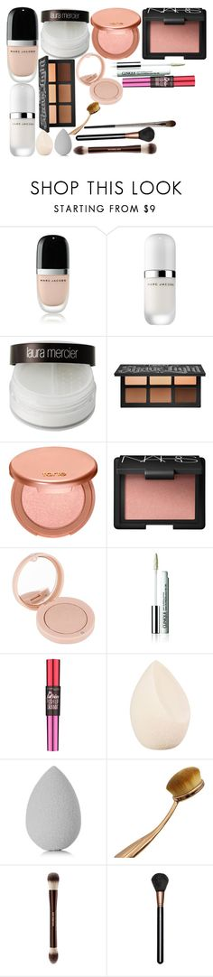 """""""Highschool makeup"""" by graciswank on Polyvore featuring Marc Jacobs, Laura Mercier, Kat Von D, tarte, NARS Cosmetics, Bourjois, Clinique, Maybelline, Christian Dior and beautyblender"""
