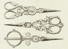 Beautiful antique scissors