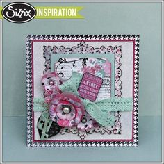Sizzix Inspiration | Prima Flora Grande Card by Jan Hobbins