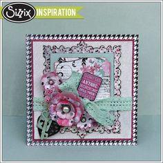 Sizzix Inspiration | Prima Flora Grande Card by Jan Hobbins