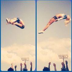 Basket Toss #cheer #cheerleading #cheerleader