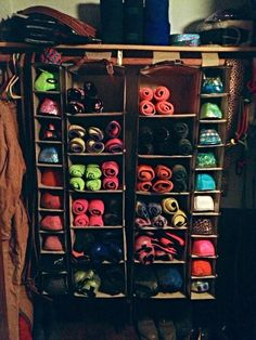 Polo/boot storage! And I've got a ton of these just laying around!!! Officially on my to do list :)