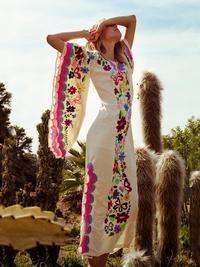 Vintage Printed Maxi Dress Women 2020 V-Neck Festival Club Loose Dresses Woman Flared Long Sleeve Plus Size Dress Vestidos Hippie Style, Estilo Hippie Chic, Gypsy Style, Bohemian Style, Bohemian Print, Boho Gypsy, Hippie Boho, Beauty And Fashion, Boho Fashion