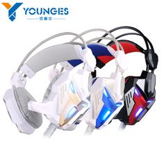 New listing YG-JEJ2 vibration function dizzy light computer games headset microphone stereo bass LED lights for PC gamers