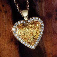 Midas 24K Gold-Foil Heart Pendant 26278 | Stauer.com