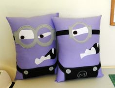 Minion Pillows Custom ordering available by MaggieElizDesigns