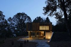 Fascinating House with Panoramic View Designs: Awesome Night View Wooden House With Panoramic View ~ SQUAR ESTATE Design Ideas Inspiration