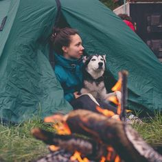 These Siberian huskies were born to camp | MNN - Mother Nature Network