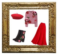 """""""Untitled #14"""" by nadia-sonik on Polyvore featuring Dolce&Gabbana, Reem Acra, Topshop and Brixton"""