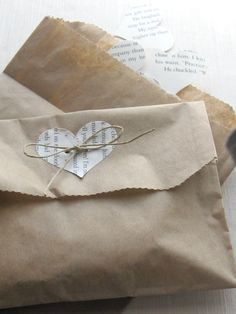 Confetti-filled Wedding favor bags (10) repurposed book heart - vintage chic - rustic elegance on Etsy, ₱1,111.11