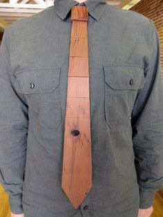 Wood Tie ($34)   Created and made exclusively from reclaimed wood by Wood Thumb in San Francisco, this wood tie is lightweight, flexible and has an adjustable neck.