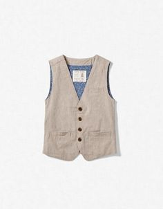STRIPED SUIT waistcoat / vest from zara